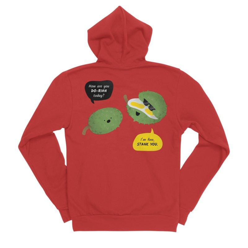How are you Durian? Men's Zip-Up Hoody by Filipeanut Sari-Sari Store
