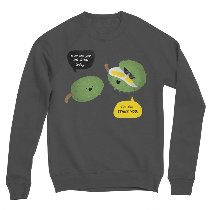How are you Durian? Men's Sponge Fleece Sweatshirt by Filipeanut Sari-Sari Store