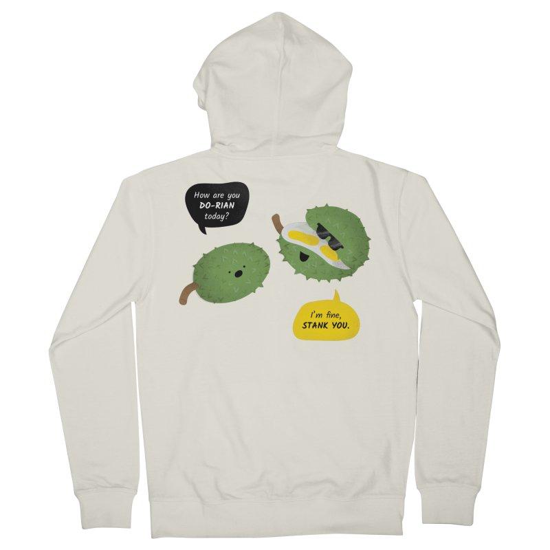 How are you Durian? Men's French Terry Zip-Up Hoody by Filipeanut Sari-Sari Store