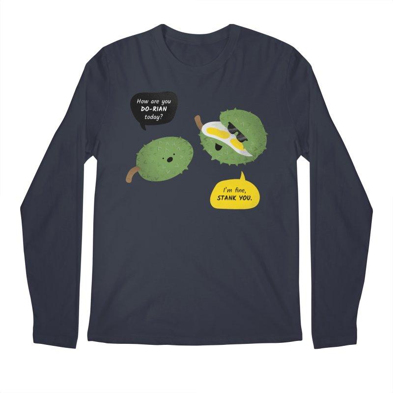 How are you Durian? Men's Regular Longsleeve T-Shirt by Filipeanut Sari-Sari Store