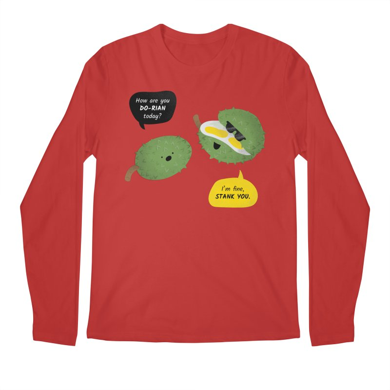How are you Durian? Men's Regular Longsleeve T-Shirt by Filipeanut Sari-Sari Store