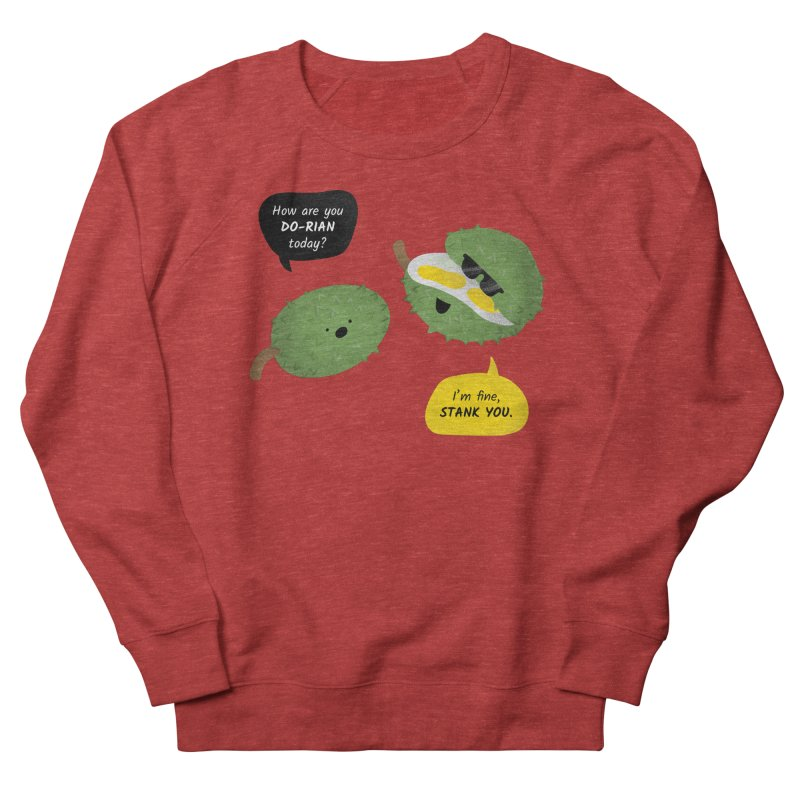 How are you Durian? Men's French Terry Sweatshirt by Filipeanut Sari-Sari Store