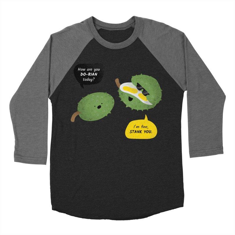 How are you Durian? Men's Baseball Triblend Longsleeve T-Shirt by Filipeanut Sari-Sari Store