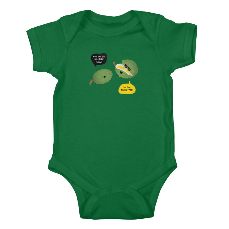 How are you Durian? Kids Baby Bodysuit by Filipeanut Sari-Sari Store