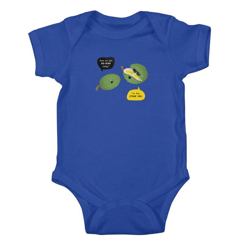 How are you Durian? Kids Baby Bodysuit by Filipeanut Sari-Sari Store