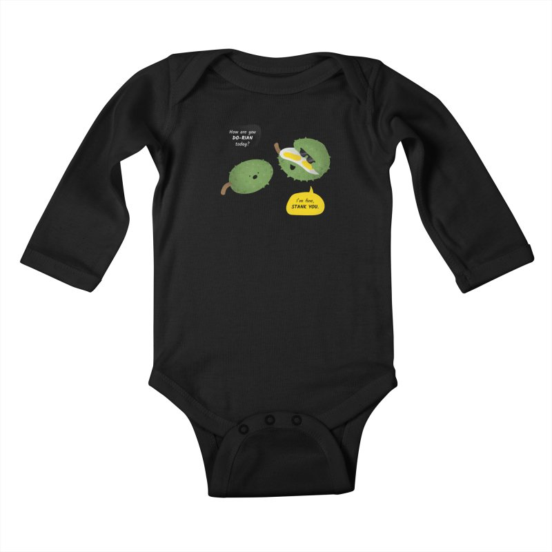 How are you Durian? Kids Baby Longsleeve Bodysuit by Filipeanut Sari-Sari Store
