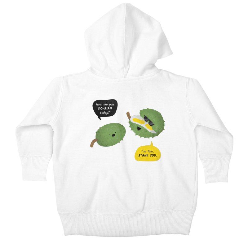 How are you Durian? Kids Baby Zip-Up Hoody by Filipeanut Sari-Sari Store