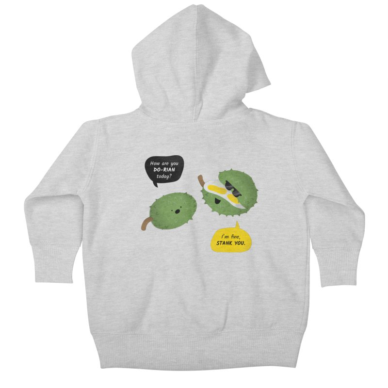 How are you Durian? Kids Baby Zip-Up Hoody by Filipeanut Sari-Sari Store