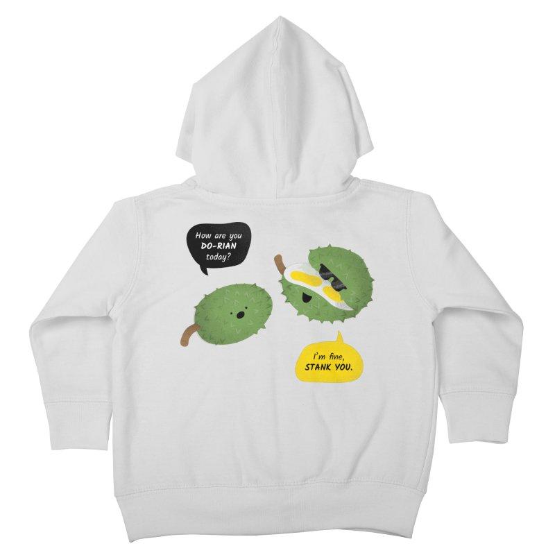 How are you Durian? Kids Toddler Zip-Up Hoody by Filipeanut Sari-Sari Store