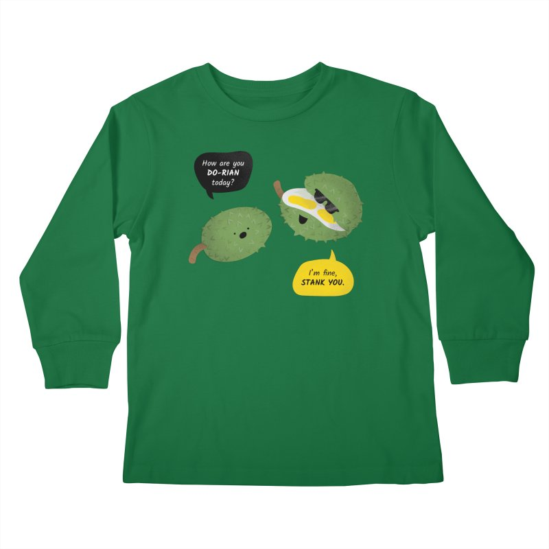 How are you Durian? Kids Longsleeve T-Shirt by Filipeanut Sari-Sari Store