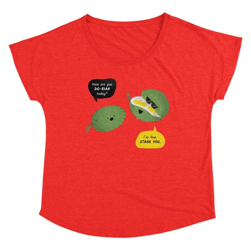 How are you Durian? Women's Scoop Neck by Filipeanut Sari-Sari Store