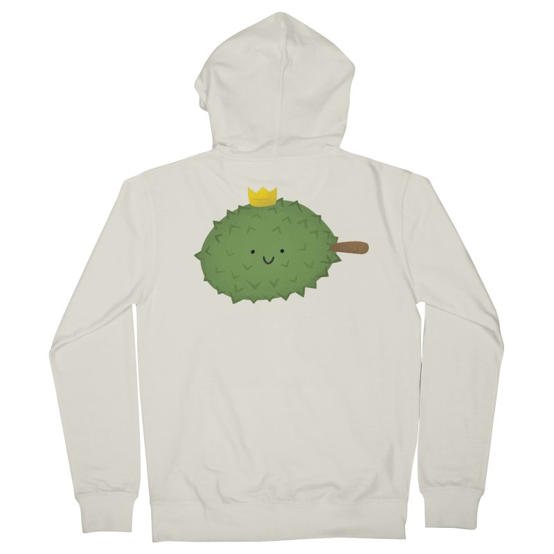 Durian, King of Fruits! Men's French Terry Zip-Up Hoody by Filipeanut Sari-Sari Store