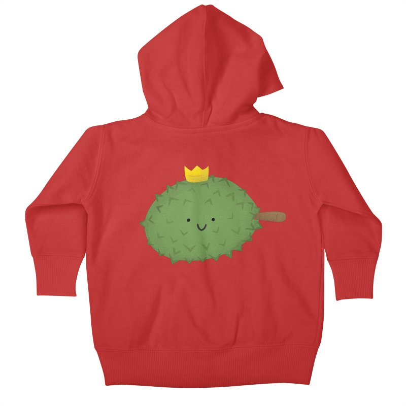 Durian, King of Fruits! Kids Baby Zip-Up Hoody by Filipeanut Sari-Sari Store
