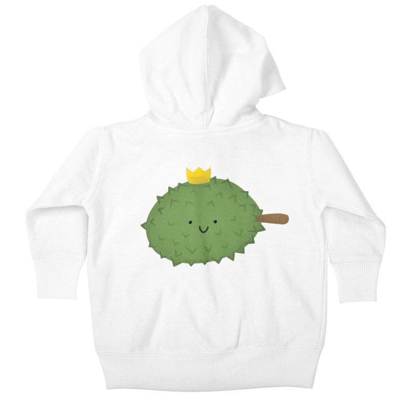 Durian, King of Fruits! Kids Baby Zip-Up Hoody by Filipeanut Sari-Sari Store