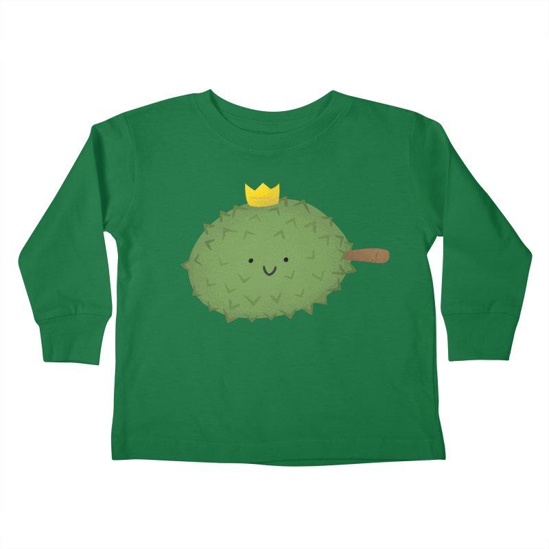 Durian, King of Fruits! Kids Toddler Longsleeve T-Shirt by Filipeanut Sari-Sari Store