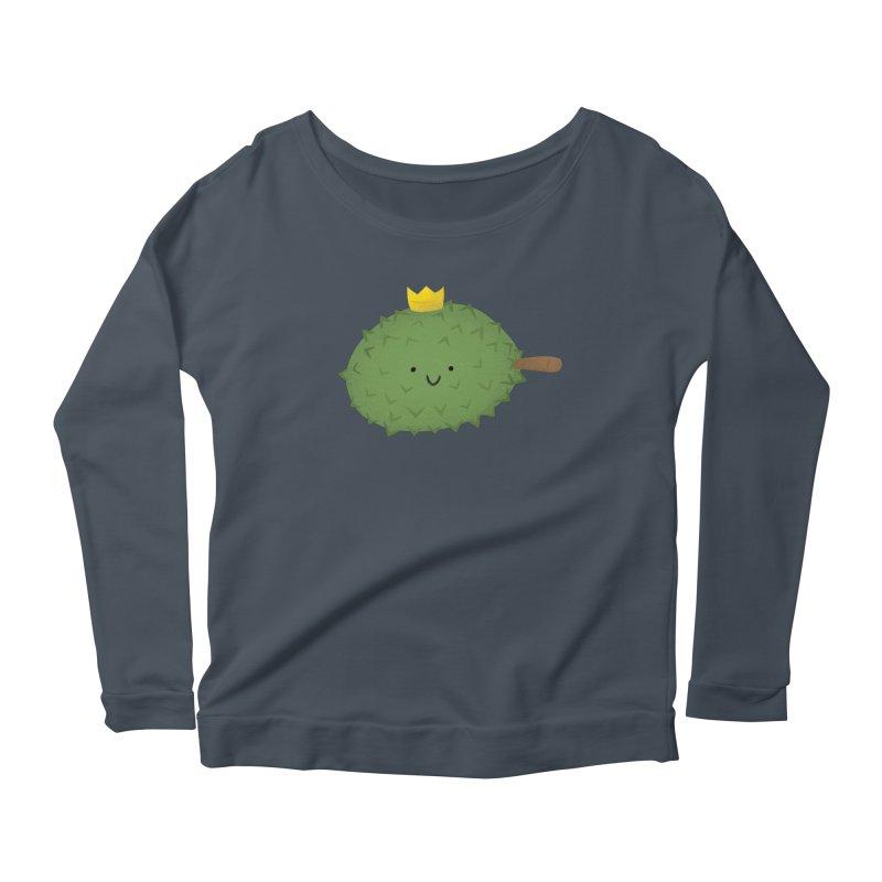 Durian, King of Fruits! Women's Scoop Neck Longsleeve T-Shirt by Filipeanut Sari-Sari Store