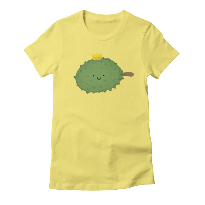 Durian, King of Fruits! Women's Fitted T-Shirt by Filipeanut Sari-Sari Store