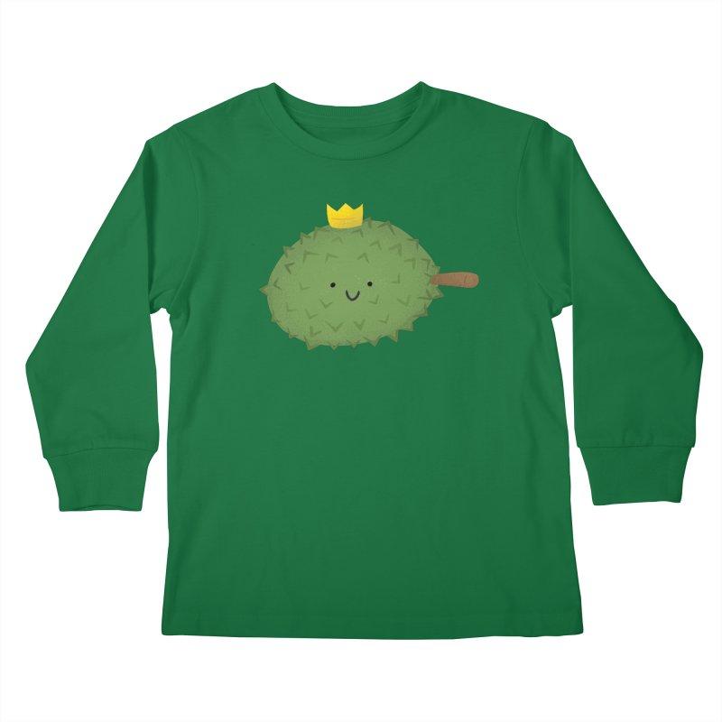 Durian, King of Fruits! Kids Longsleeve T-Shirt by Filipeanut Sari-Sari Store
