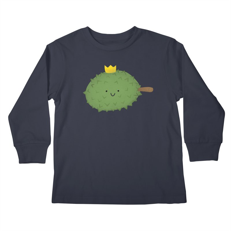 Durian, King of Fruits! Kids Longsleeve T-Shirt by Filipeanut Sari-Sari Store