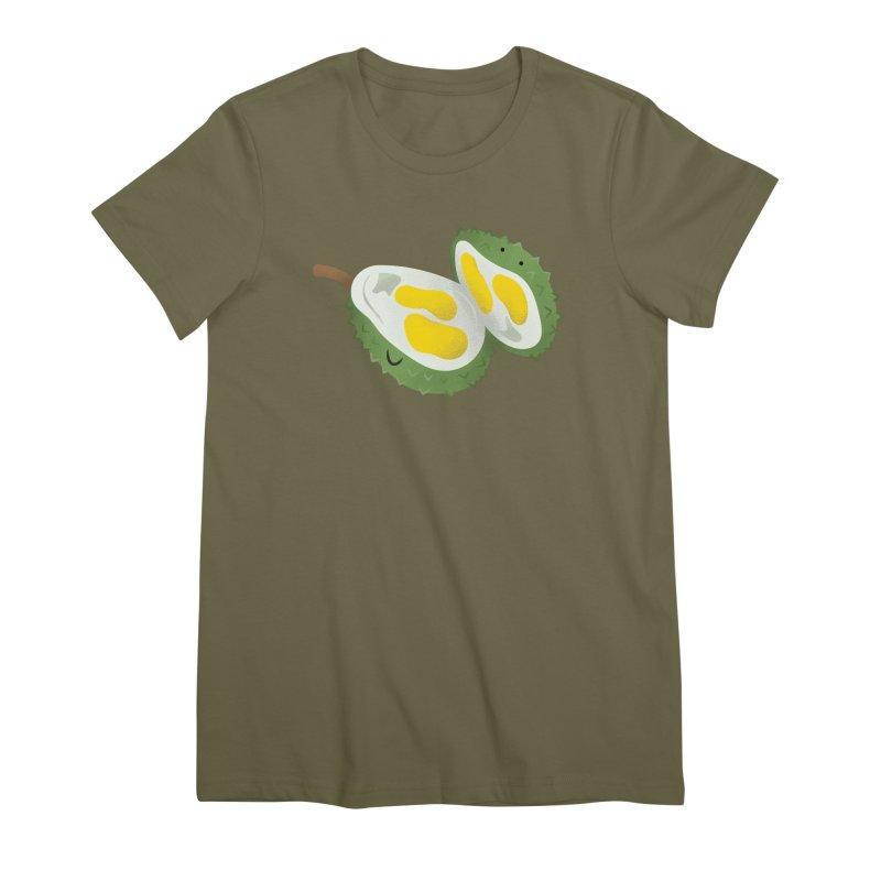 Durian, open wide! Women's Premium T-Shirt by Filipeanut Sari-Sari Store