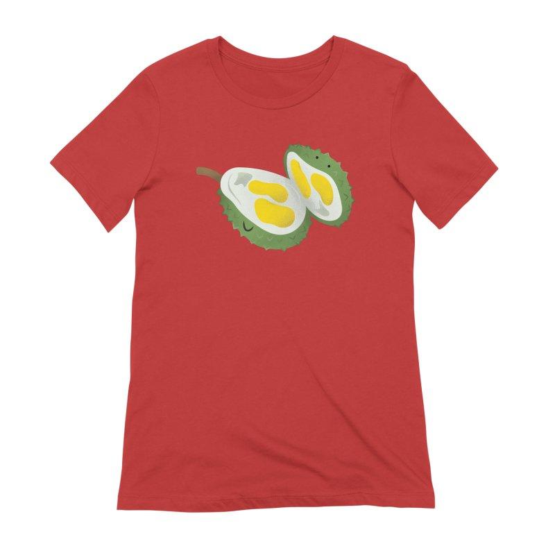 Durian, open wide! Women's Extra Soft T-Shirt by Filipeanut Sari-Sari Store