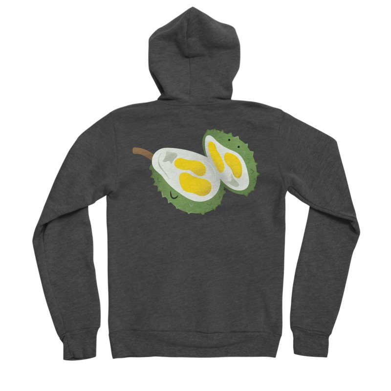Durian, open wide! Men's Zip-Up Hoody by Filipeanut Sari-Sari Store