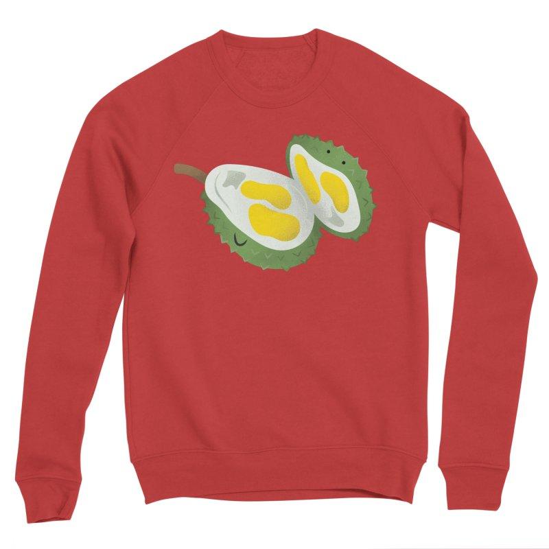 Durian, open wide! Women's Sponge Fleece Sweatshirt by Filipeanut Sari-Sari Store