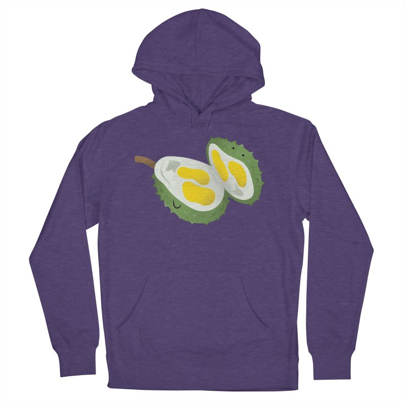 Durian, open wide! Men's French Terry Pullover Hoody by Filipeanut Sari-Sari Store