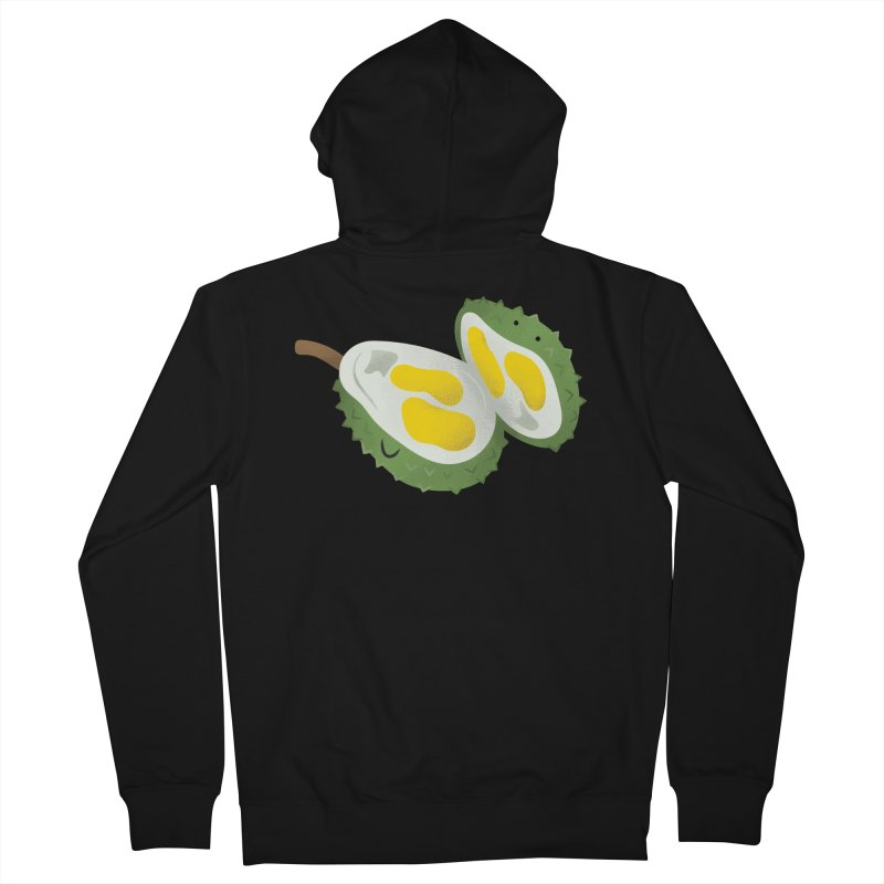 Durian, open wide! Men's Zip-Up Hoody by Filipeanut Sari-Sari Store
