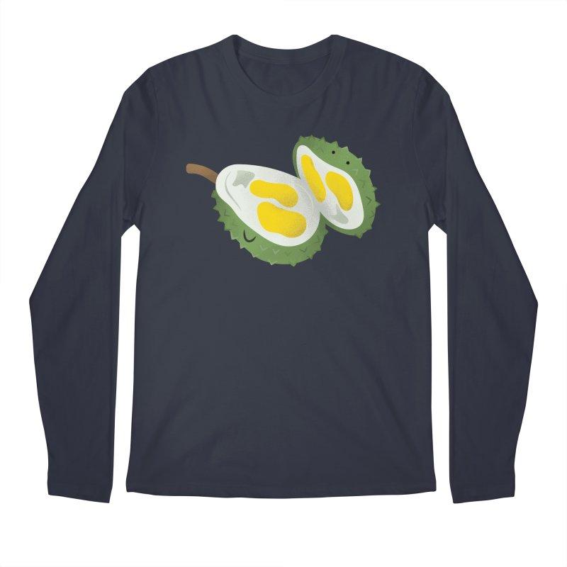 Durian, open wide! Men's Regular Longsleeve T-Shirt by Filipeanut Sari-Sari Store