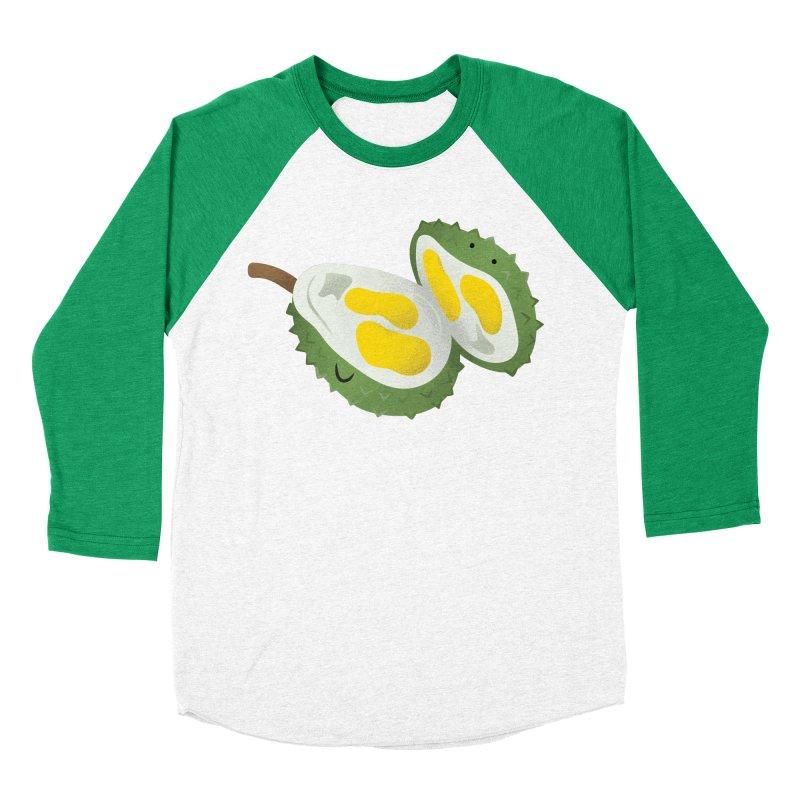 Durian, open wide! Women's Baseball Triblend Longsleeve T-Shirt by Filipeanut Sari-Sari Store