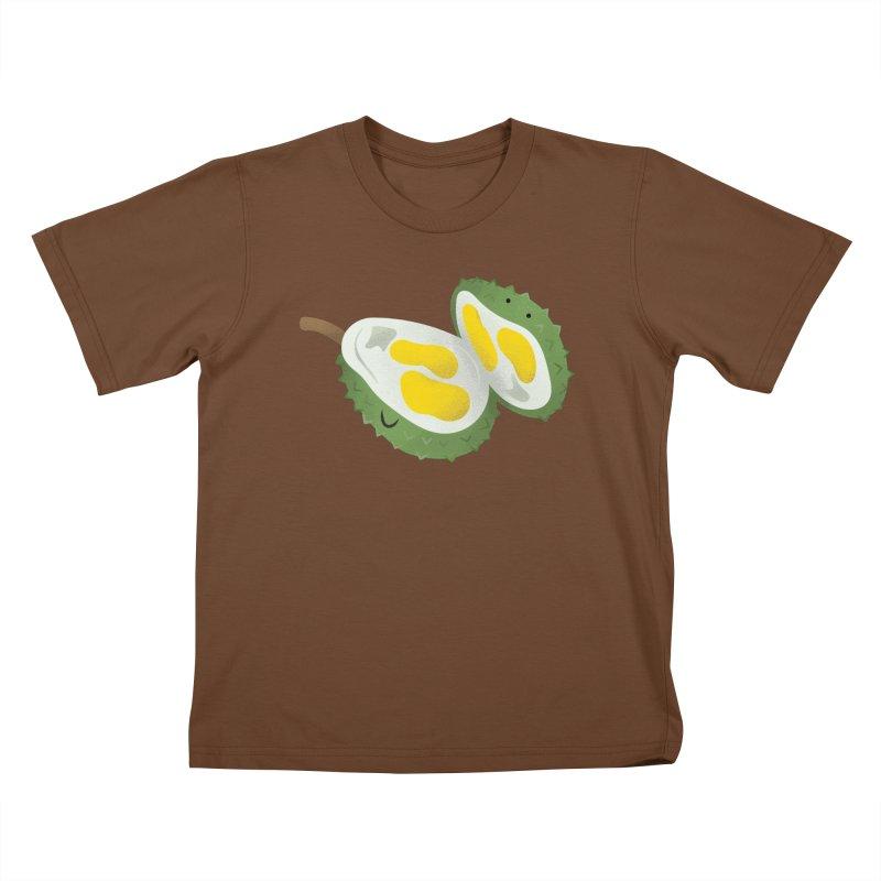 Durian, open wide! Kids T-Shirt by Filipeanut Sari-Sari Store