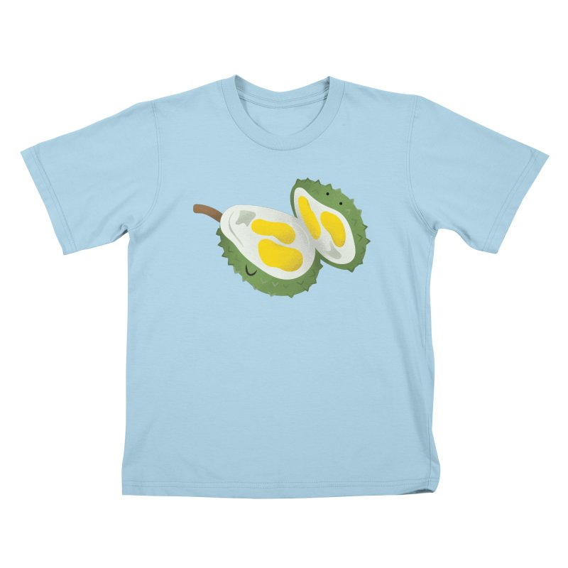 Durian, open wide! Kids T-Shirt by Filipeanut Sari-Sari Store