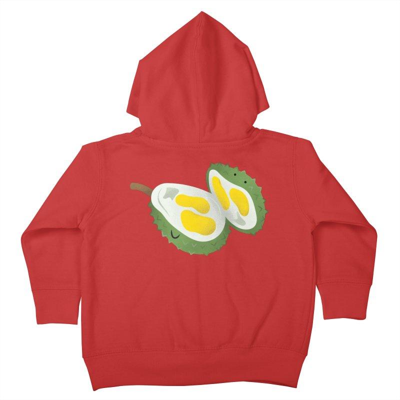 Durian, open wide! Kids Toddler Zip-Up Hoody by Filipeanut Sari-Sari Store