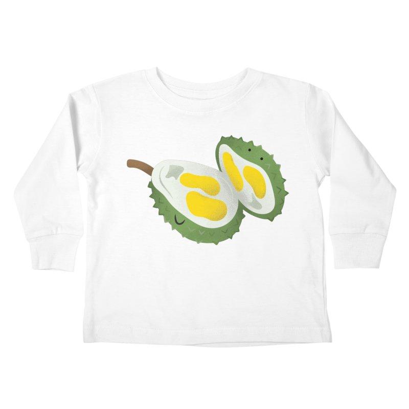 Durian, open wide! Kids Toddler Longsleeve T-Shirt by Filipeanut Sari-Sari Store