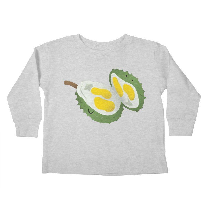 Durian, open wide! Kids Toddler Longsleeve T-Shirt by Filipeanut Sari-Sari Store