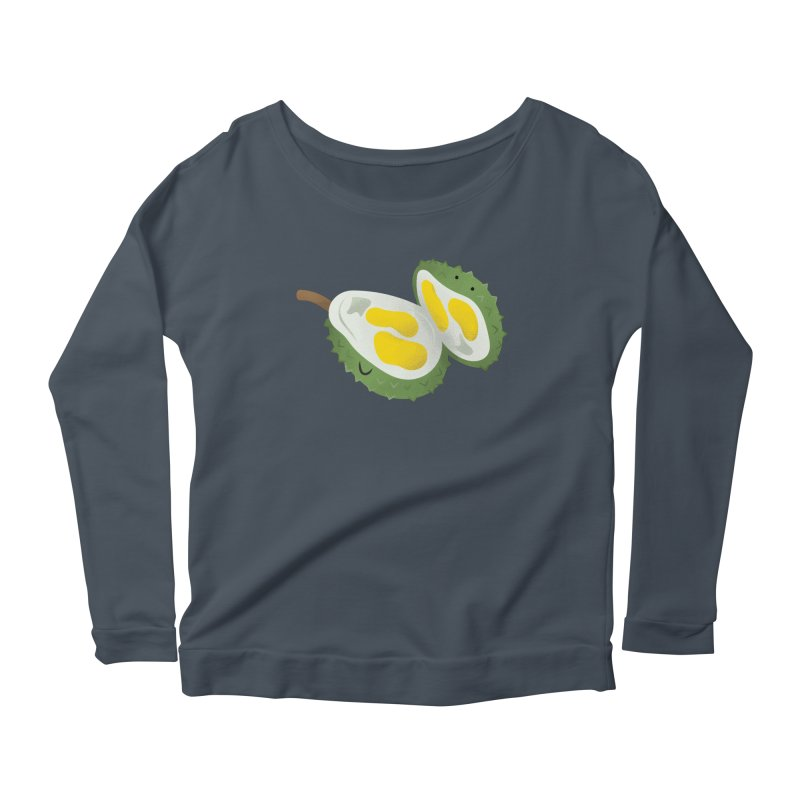 Durian, open wide! Women's Longsleeve T-Shirt by Filipeanut Sari-Sari Store