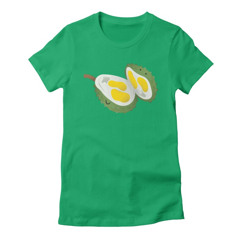 Durian, open wide! Women's Fitted T-Shirt by Filipeanut Sari-Sari Store