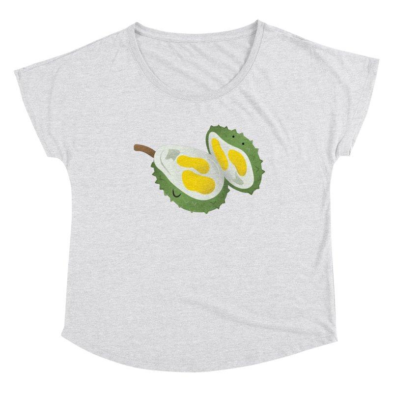 Durian, open wide! Women's Scoop Neck by Filipeanut Sari-Sari Store