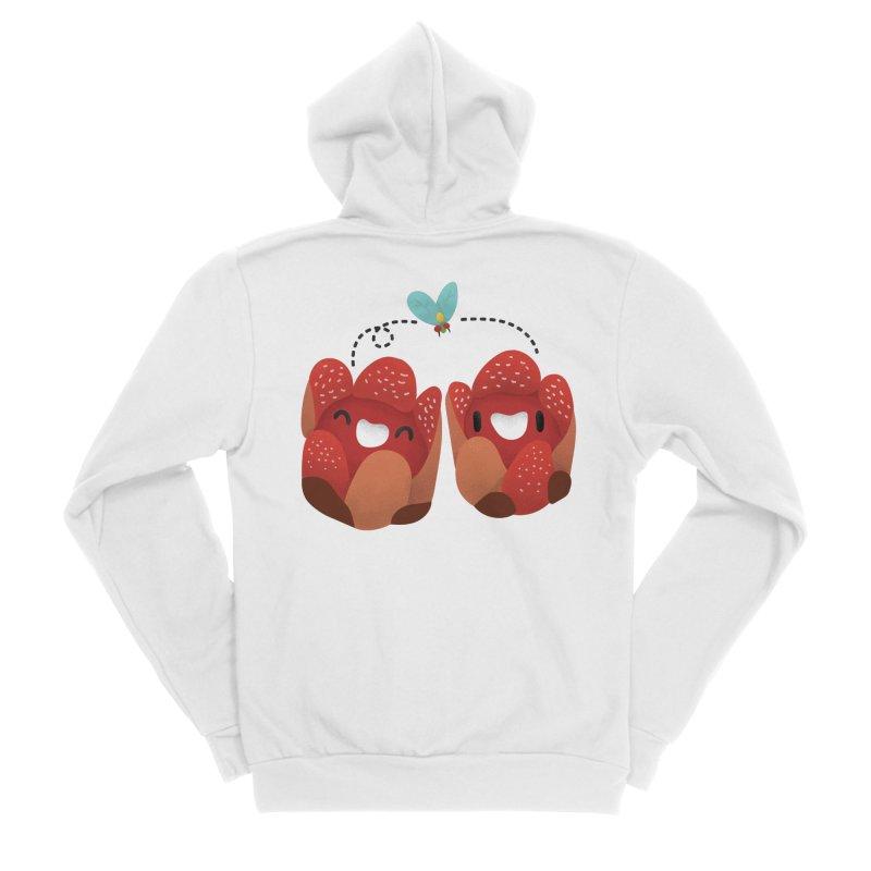 Rafflesia consueloae Men's Zip-Up Hoody by Filipeanut Sari-Sari Store