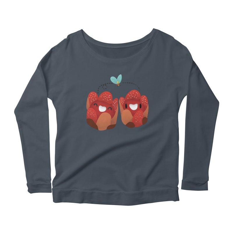 Rafflesia consueloae Women's Scoop Neck Longsleeve T-Shirt by Filipeanut Sari-Sari Store