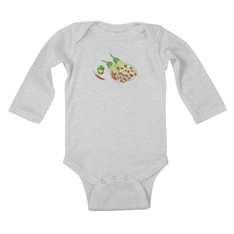 Ensaladang talong Kids Baby Longsleeve Bodysuit by Filipeanut Sari-Sari Store