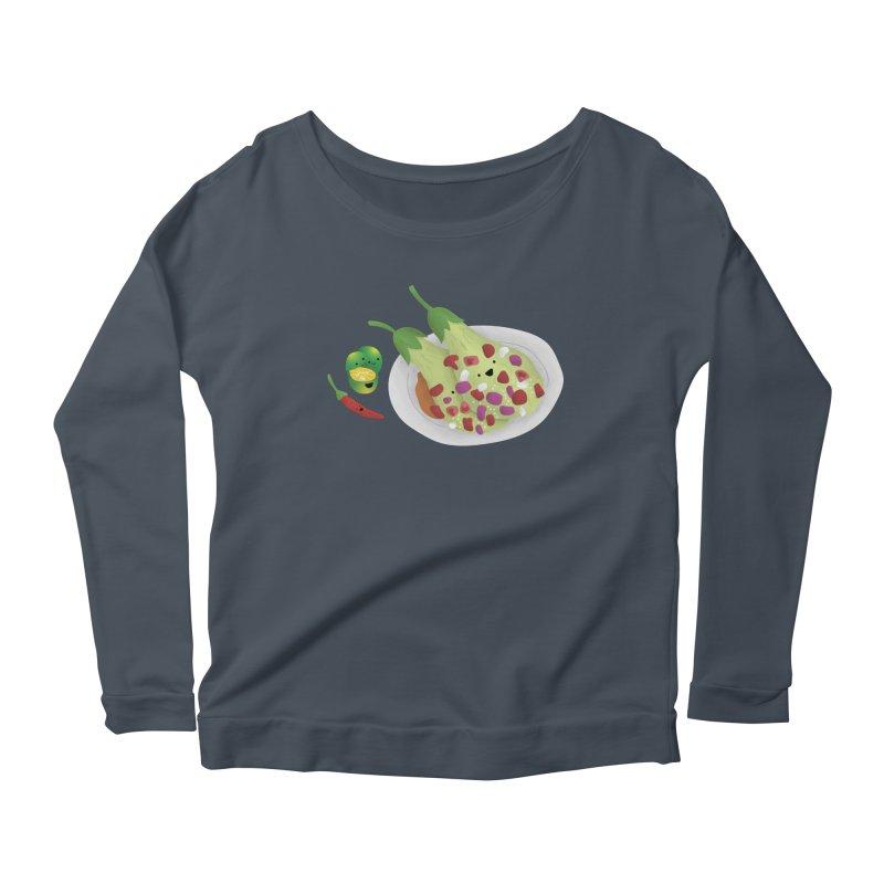 Ensaladang talong Women's Scoop Neck Longsleeve T-Shirt by Filipeanut Sari-Sari Store