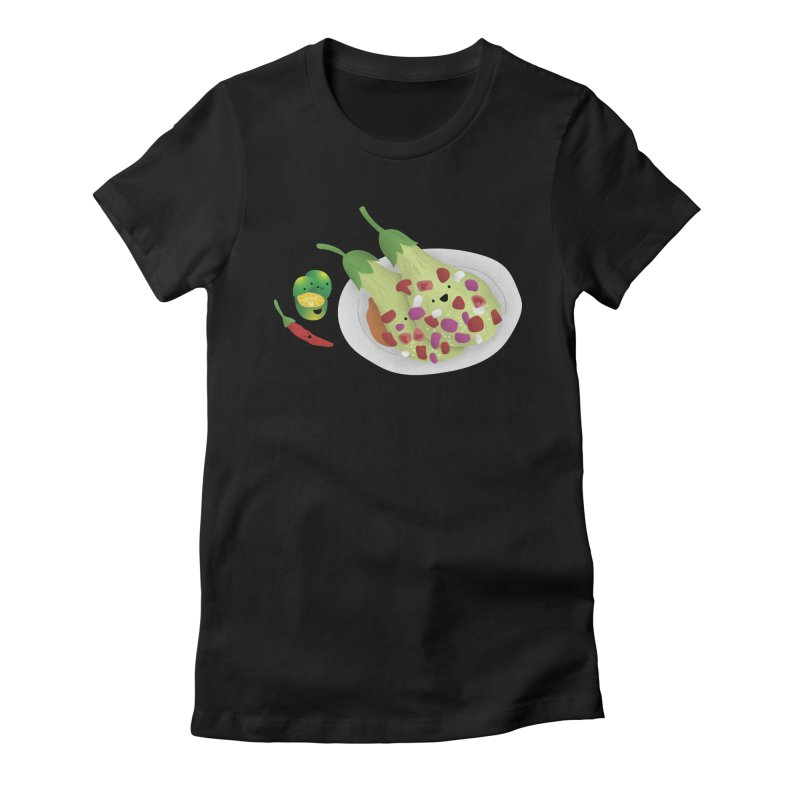 Ensaladang talong Women's Fitted T-Shirt by Filipeanut Sari-Sari Store
