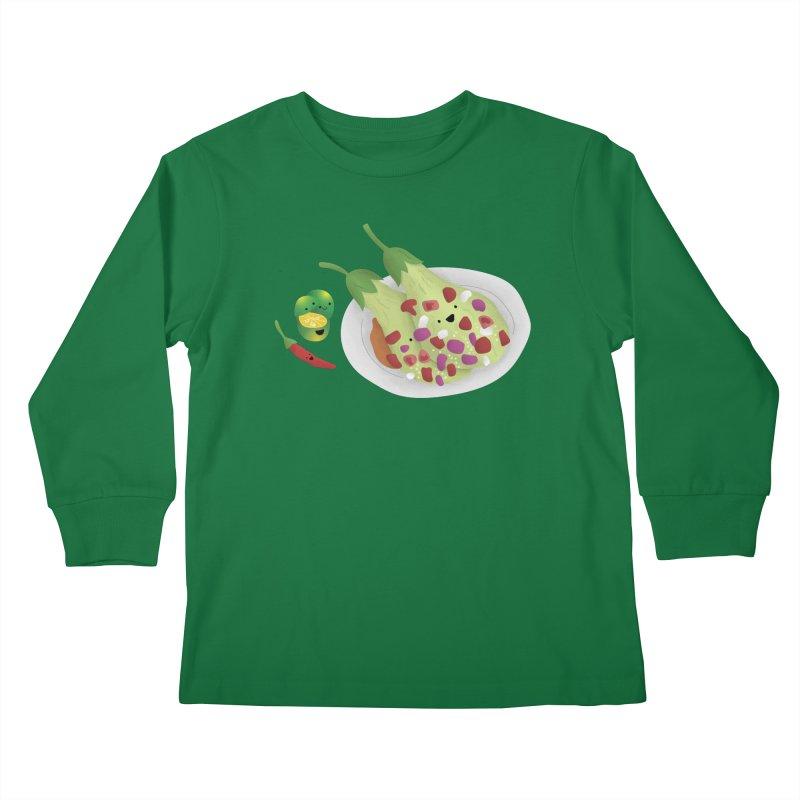 Ensaladang talong Kids Longsleeve T-Shirt by Filipeanut Sari-Sari Store