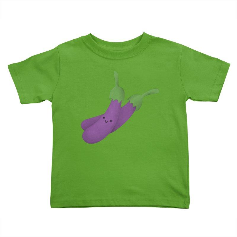 Talong or eggplant Kids Toddler T-Shirt by Filipeanut Sari-Sari Store
