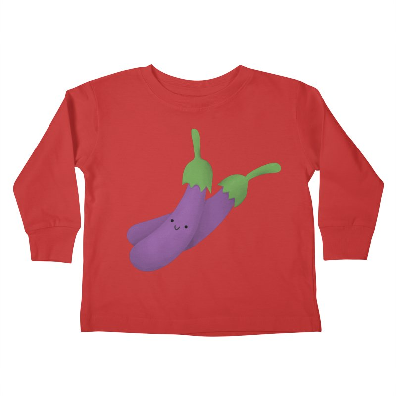 Talong or eggplant Kids Toddler Longsleeve T-Shirt by Filipeanut Sari-Sari Store
