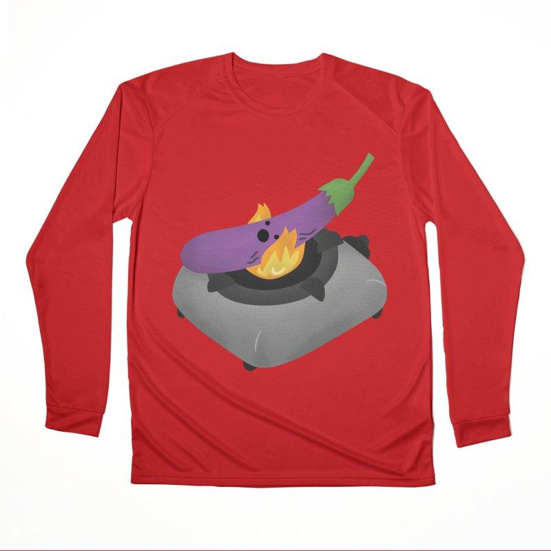Talong on fire Women's Longsleeve T-Shirt by Filipeanut Sari-Sari Store