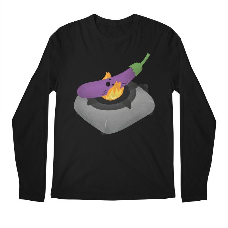 Talong on fire Men's Longsleeve T-Shirt by Filipeanut Sari-Sari Store