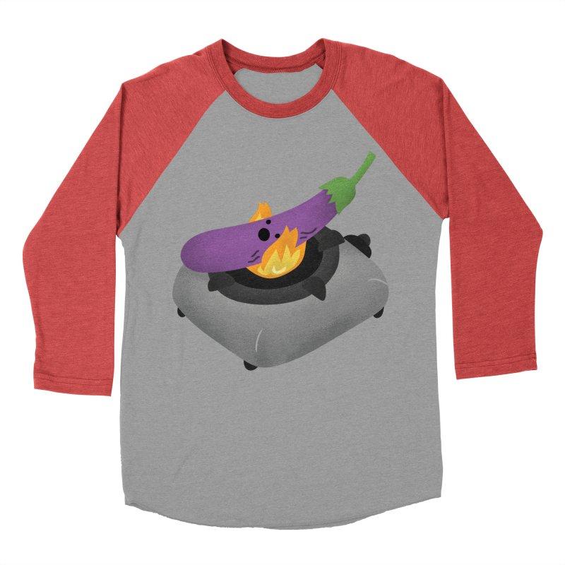 Talong on fire Women's Baseball Triblend Longsleeve T-Shirt by Filipeanut Sari-Sari Store